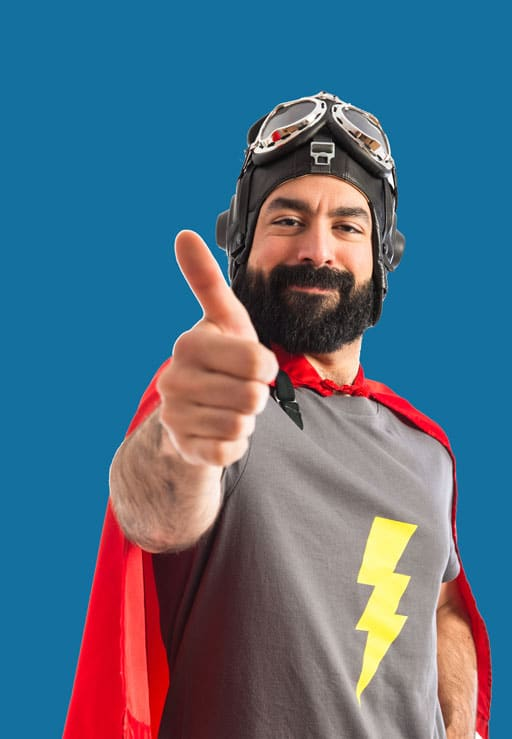 Super Guy Managing WordPress Support